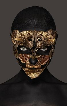 Rankin and Andrew Gallimore. Fantasy Makeup, Fantasy Art, John Rankin, Arte Fashion, Masks Art, Gothic Steampunk, Creative Makeup, Mask Design, Skull Art