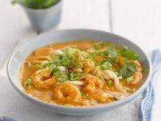 Suppe aus Singapur mit Garnelen und Nudeln ist ein Rezept mit frischen Zutaten aus der Kategorie Garnelen. Probieren Sie dieses und weitere Rezepte von EAT SMARTER!