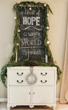 Christmas - A thrill of hope, the weary world rejoices.  TIFFANY WILLIAMS - IS IT TOO LATE FOR THIS??????