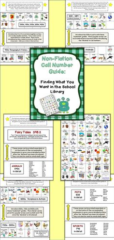 This packet is intended to be helpful to school librarians as well as classroom teachers. It includes a guide for introducing the non-fiction section of the school library or media center to your students.