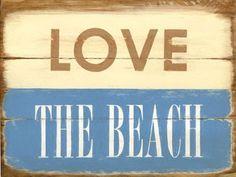 Love The Beach Vintage Metal Sign
