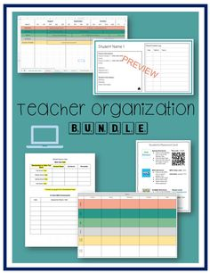 Teaching, planning, preparing, and communicating can be time consuming. Use the five great products in this bundle to help you stay organized and ahead of the game. This bundle includes 5 editable products to make life easier : An editable weekly planning template (Google Doc and Google Slide version) An editable year long planning template complete with ELA and Math Common Core Standards pre-filled. An SST Data Collection sheet to make data collection and presentation easier. A parent contact Easel Activities, Classroom Activities, Classroom Decor, Teacher Created Resources, School Resources, Data Collection Sheets, Parent Contact, Teacher Organization, Common Core Standards