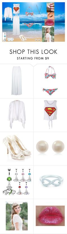 """""""Day at the Beach"""" by maxinehearts ❤ liked on Polyvore featuring Miss Selfridge, Stefanel, Monsoon, Links of London, H2O+ and Tiffany & Co."""