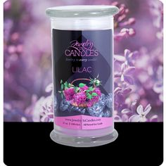 The attractive sweet-smell of flowers in early summer just before roses and other summer flowers come into bloom. Lilac is native to the rocky hills of the Balkan Peninsula. Lilac scented candle. Infused with natural essential oils. 100% soy 21 oz candle. Also available in tarts!