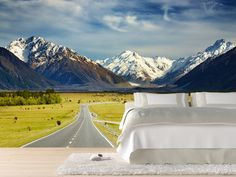 Eazywallz  - Road to the mountains Wall Mural, $153.50 (http://www.eazywallz.com/road-to-the-mountains-wall-mural/)