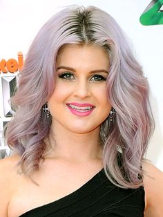 "KELLY OSBOURNE  After going gray to give her hair a break from bleach, Kelly went lavender in early 2012. ""I think that I have an addiction to dyeing my hair,"" she said, ""[and] I don't want to break this addiction, I love it."""