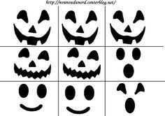 yeux, nez, bouche pour citrouille et fantome Imprimer le fichier cliquez : .acrobat.com ************* Halloween : coloriages: .ici. / Coloriages pourgommettes .ici. / activités ...