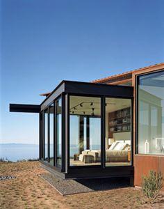 Minimalist Glass House Interior Design Bedroom