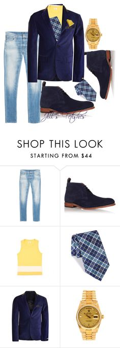 """""""Jazz Lounge"""" by jillof6 ❤ liked on Polyvore featuring 7 For All Mankind, Grenson, Nordstrom, DKNY, Rolex, men's fashion and menswear"""