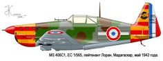 MS.406 C1 Unit: EC 1/565, Armee de l'Air de Vichy Serial: L-834 (N842) Pilot – Lt.Laurant. Madagascar, May 1942.