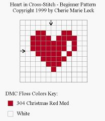 heart knitting chart - Buscar con Google