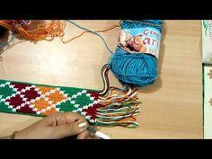 77.- Reto Bolso Tapestry - Tarea 6 El asa - YouTube Boho Tapestry, Tapestry Bag, Tapestry Crochet, Crochet Chart, Wiggly Crochet, Mochila Crochet, Hairpin Lace Crochet, Crochet Videos, Weaving