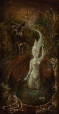 Leonora Carrington - Untitled (The White Goddess) (1958)