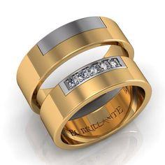 7bde2d909fff Argollas de matrimonio en oro blanco y amarillo de 18 quilates