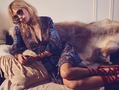 Model Staz Lindes stars in Free People's June catalogue