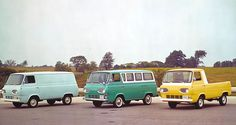 Ford Van '60,,,,, I will own a van just like that middle one someday.