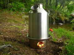 Kelly Kettle Scout Stainless Kit  seems awesome and light and practical