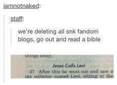 Jesus calls Levi. I'm religious and this is hilarious.