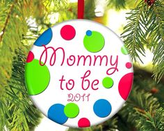 Mommy to be Christmas Ornament by TheOneStopButtonShop on Etsy, $8.00