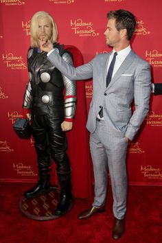 Chris Hemsworth Confronts The 'Thor' Wax Figure That Looks Nothing Like Him