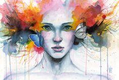 "Saatchi Online Artist: Guillem Marí; Watercolor, Painting ""Satori"""