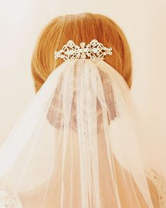 Vintage Comb with veil