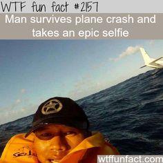 Man survives plane crash - WTF fun facts