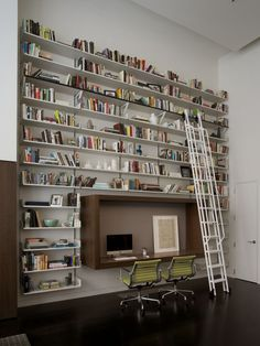Cool Desks Design, Pictures, Remodel, Decor and Ideas - page 6  I think this wall would look good in our livingroom.