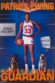 Excellently cheesy 80's Patrick Ewing poster