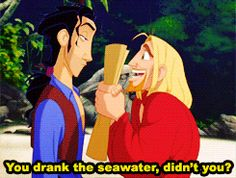"""When your friend suggests going to Walmart on Black Friday: 20 Perfect GIFs From """"The Road To El Dorado"""" You Need In Your Life Disney Pixar, Disney Memes, Disney Fun, Disney And Dreamworks, Disney Cartoons, Disney Magic, Disney Stuff, Miguel And Tulio, Dreamworks Movies"""