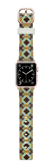 Casetify Apple Watch Band (38mm) Bracelet Casetify - turquoise purple and gold by akaclem #Casetify