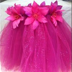 Hawaiian tutu skirt in pink