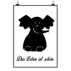 Poster DIN A2 Elefant sitzend aus Papier 160 Gramm  weiß - Das Original von Mr. & Mrs. Panda.  Jedes wunderschöne Poster aus dem Hause Mr. & Mrs. Panda ist mit Liebe handgezeichnet und entworfen. Wir liefern es sicher und schnell im Format DIN A2 zu dir nach Hause.    Über unser Motiv Elefant sitzend  Dickhäuter kommen neben dem Zoo in freier Wildbahn in der Savanne vor und sind die größten lebenden Landtiere. In Afrika und Asien ist der Elefant heimisch. Die Rüsseltiere sind friedlich und…