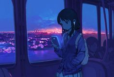 A community dedicated to the manga and anime series, Watashi ga Motenai no wa dō Kangaetemo Omaera ga Warui! Anime School Girl, Anime Art Girl, Aesthetic Art, Aesthetic Anime, Art Sombre, Arte Cyberpunk, Anime Scenery Wallpaper, Cute Wallpapers, Kawaii Anime