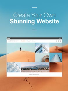 You can create your own professional website - just like this one.