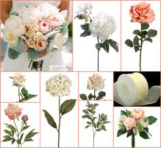 #peach wedding #vintage bouquet #afloral http://blog.afloral.com/inspiration-boards/carries-creamy-coral-summer-wedding-flower-inspiration-board/