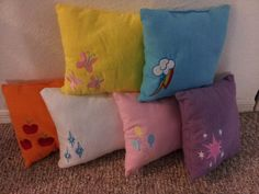 My Little Pony Pillows. My Little Pony Bedroom, Little Girl Rooms, Cute Little Girls, My Lil Pony, My Little Pony Birthday, Big Girl Bedrooms, Girls Bedroom, Bedroom Ideas, Monster High Bedroom
