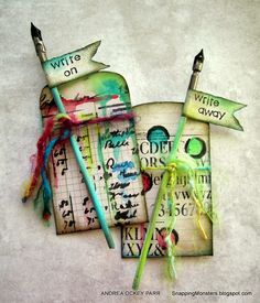 Snapping Monsters: My Cards and Tags: Write Away writing envelopes and pens as gifts or for scrapbooking