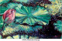 'Water Lilies, Pond at Sunrise' by Arianna Caroli.