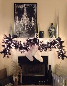 chalkboard christmas mantle - Google Search