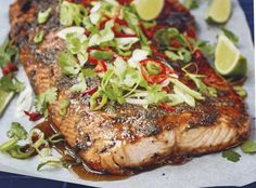 Fish And Meat, Fish Recipes, Salmon Burgers, Food And Drink, Pork, Menu, Gluten Free, Yummy Food, Cooking