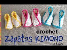 Crochet Kimono Shoes For Babies – Crochet Ideas Crochet Baby Sandals, Knit Baby Booties, Crochet Shoes, Crochet Slippers, Love Crochet, Crochet Clothes, Baby Patterns, Crochet Patterns, Crochet Amigurumi