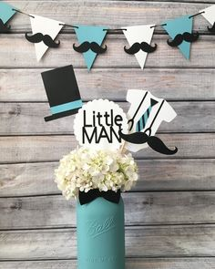 Image result for little man baby shower centerpieces