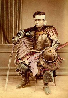 Young Samurai Ca. Early Meiji-era of Scenes and People of Japan Japanese History, Japanese Culture, Japanese Art, Japanese Sword, Ronin Samurai, Samurai Armor, Samurai Helmet, Kendo, Geisha Kunst