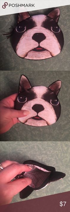 Boston Terrier little bag Boston Terrier zip bag perfect as a coin purse or makeup bag. It's so cute! Bags Cosmetic Bags & Cases