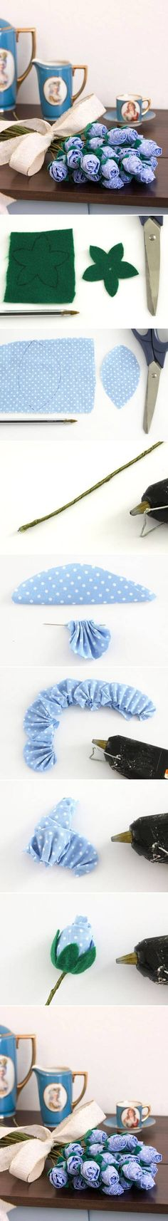 DIY Lilac Fabric Rose