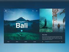 Bali / Web UI by Zoltán Czékmány on Dribbble Minimal Web Design, Design Web, Web Design Trends, Design Blog, Page Design, Travel Website Design, Website Design Layout, Web Layout, Layout Design