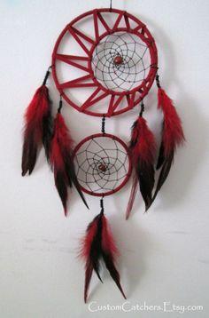 Crescent Moon Dreamcatcher - Custom Dreamcatcher - Native American Art - Home Decor - Unique Gift - Pagan Dreamcatcher - New Age Art