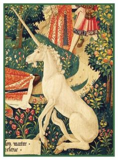 Medieval-Unicorn-detail-Tapestry-History-St-Stephen-Counted-Cross-Stitch-Pattern