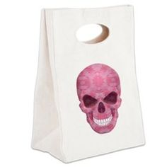 Pink Camouflage Skull Canvas Lunch Tote > Lunch Bags > Atteestude T-Shirts And Gifts  #school supplies